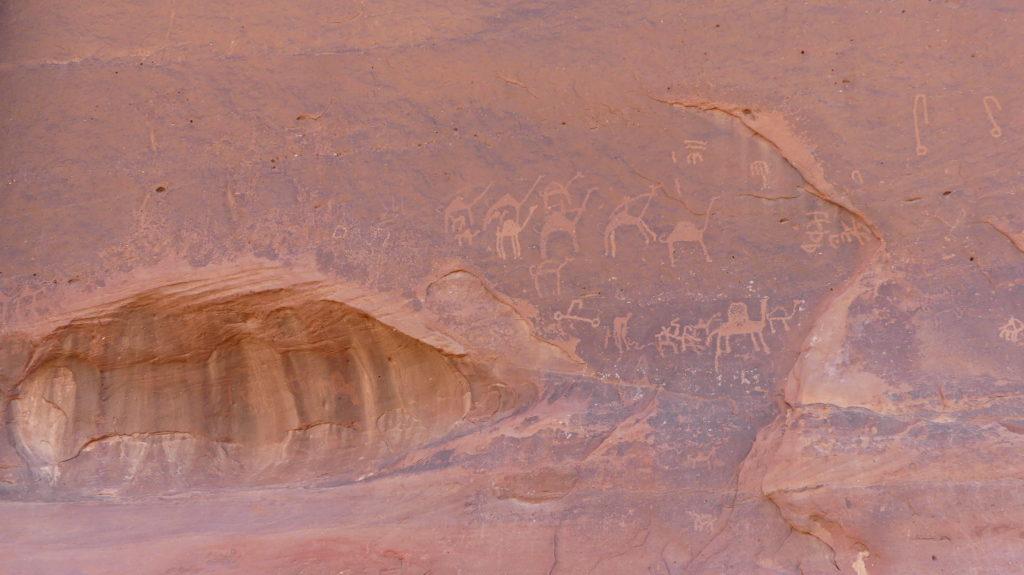 Skalne rysunki Wadi Rum