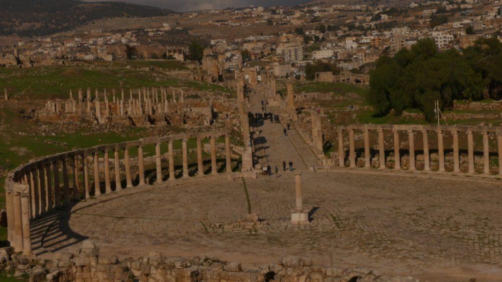 widok ze swiątyni Zeusa