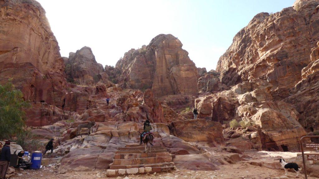 wejście do Wyzyny Ofiarnej Petra