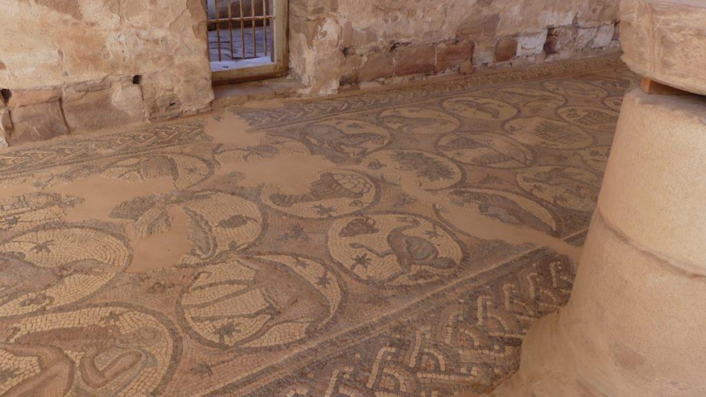 mozaiki w kościele biznatyjskim Petra