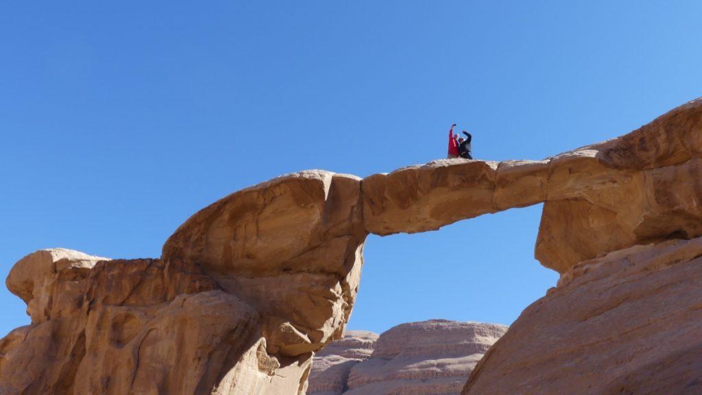 Most skalny Wadi Rum Jordania